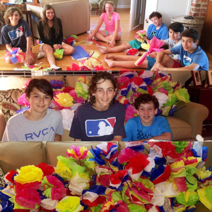 vb boys 2022 tissue paper flowers for seniors